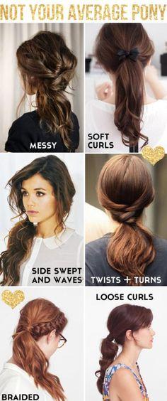 boring ponytail ideas