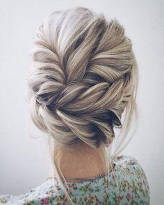 Beautiful updo wedding hairstyle idea