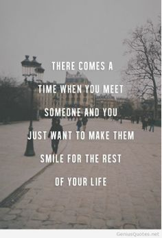 Meeting someone wait for the perfect moment