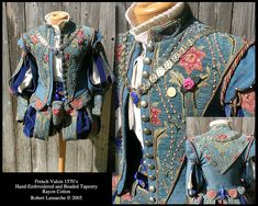 French doublet and paned slops with floral embroidery Renaissance Mode, Renaissance Costume, Medieval Costume, Renaissance Fashion, Renaissance Clothing, Italian Renaissance, Elizabethan Costume, Elizabethan Fashion, Tudor Costumes