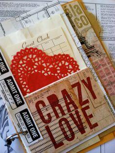 CRAZY LOVE Junk Journal by elisahernandez on Etsy, $12.00