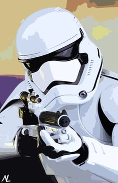 Star Wars New Stormtrooper The Force Awakens by NLopezArt