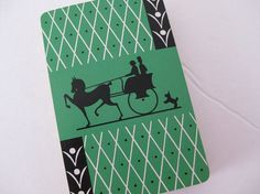 Deco Playing Cards Silhouette Horse Carriage by MyVictorianCottage, $20.00
