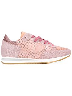 Philippe Model - Tropez sneakers - women - Calf Leather/Leather/rubber -  Pink/Purple