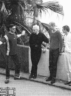 Paul Landers, Christoph Schneider, Oliver Riedel, and Christian Flake Lorenz looking odd.