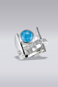 Larimarket - MarahLago Dante Collection Larimar Ring with White Topaz, $240.00 (http://www.larimarket.com/marahlago-dante-collection-larimar-ring-with-white-topaz/)