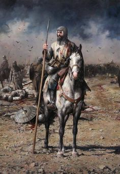 Iberian horseman c.XIII th century by Augusto Ferrer-Dalmau Medieval Knight, Medieval Armor, Medieval Fantasy, Samurai, Military Art, Military History, Crusader Knight, Armadura Medieval, Templer