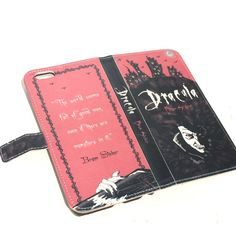 Book phone /iPhone flip Wallet case Dracula for by chicklitdesigns