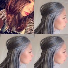 Silver lining before and after. Five hour project. Her hair felt really good when we were done using #olaplex#inoa#loreal#kerastase#oribe made all the difference #anushkasalon#wpbstylist#silverhair#silverhairdontcare#unicornhair#mermaidhair#fantasyhair#hairporn#colorist#colorcorrection#colortransformation#greyhair#modernsalon#americansalon#haircoloring#hairgoals#hairofinstagram#haironfleek#hairoftheday#hairstyle#hairfashion#haircolour