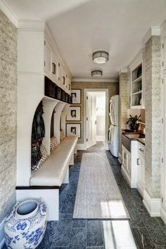 chic mud room.