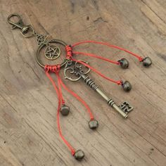 Witches bells Keychain Wicca Home Protection Witch Protection Symbols, Witch Symbols, Home Protection, Wiccan Witch, Witchcraft, Magick, Moon Dreamcatcher, Dreamcatchers, Wiccan Home