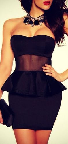 Bodycon Peplum Dress // #lbd