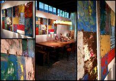 Metalen panelen in levendige kleuren