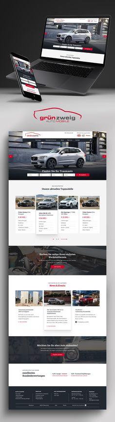 Entwicklung und UX Design einer neuen Webseite für den Autohändler Grünzweig. Website Designs, Ux Design, Automobile, Autos, Website, Car, Motor Car, Design Websites, Website Layout