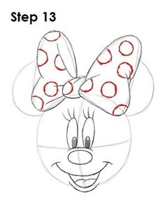 Draw Minnie Mouse. I need to learn to draw