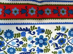 Scandinavian Style Floral Fabric. $10.00, via Etsy.