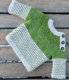 Baby Knitting Patterns Free Knitting Pattern for Oslo Baby Sweater -Long-sleeved baby pullover is knit with garter stitch a. Knitting Patterns Boys, Baby Boy Knitting, Knitting For Kids, Baby Patterns, Free Knitting, Baby Knits, Knitted Baby, Baby Sweater Patterns, Finger Knitting