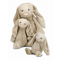 Beige Bashful Bunny Medium by Jellycat at The Garden GatesThis adorable Bashful Bunny by Jellycat is sure to delight children of all ages. Cute and plush! (This is the one in the middle of the photo) - See more at: http://www.thegardengates.com/Beige-Bashful-Bunny-Stuff-Animal-Plush-Toy-Jellycat-p24927.aspx#sthash.dTZCwnur.dpuf