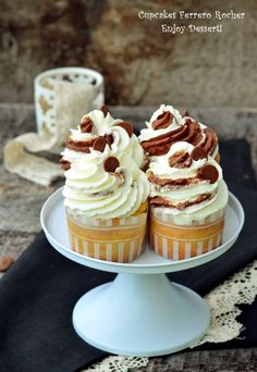 Cheesecake Cupcakes, Ferrero Rocher, Cheesecakes, Fun Desserts, Food And Drink, Ice Cream, Sweets, Deserts, Fairy Cakes