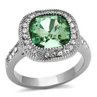4 Ct Emerald Color Cushion Cut Stainless Steel Halo Engagement Ring Size *** Very kind of your presence to drop by to see our image. (This is an affiliate link) Crystal Engagement Rings, Engagement Ring Sizes, Beautiful Engagement Rings, Fashion Rings, Fashion Jewelry, Trendy Jewelry, Women's Fashion, Stainless Steel Jewelry, Jewelry Rings