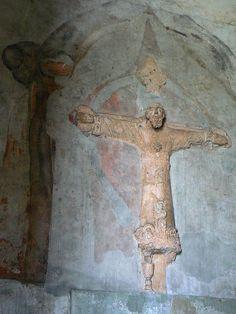 Kruzifix im Stadttor Porta San Donato in Lucca