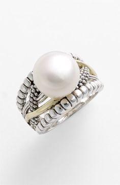 Lagos 'Luna Pearl - Unlaced' Ring | Nordstrom