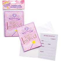 Princess Party Invitations with Envelopes, Packs. Royal InvitationPrincess Party InvitationsDollar Tree ...