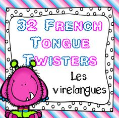 This file includes 32 French tongue twisters written inside individual cards that can be used for your French Literacy Center or other French activities in class, including Task Cards.
