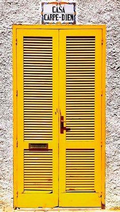 My World of Colours — Tabarca, Alicante, Spain Found on. The Doors, Windows And Doors, Fred Instagram, Subtractive Color, Porte Cochere, Apple Wallpaper Iphone, Apple Iphone, Yellow Doors, Unique Doors