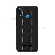 50a4c3cd4 Purchased NXE Stitching PU Leather Coated TPU Back Casing for Huawei P20  Lite / Nova 3e - Black. Cell Phone ...