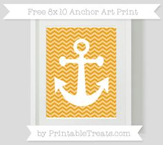 Marigold Chevron  8x10 Anchor Art Print