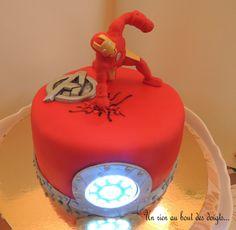 Gâteau Iron Man