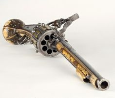 The world's oldest revolver was made in 1597 by Hans Stopler in Nüremberg. Flintlock mechanism, 8 shots.