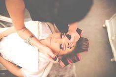 Making of de noiva - fazendo a maquiagem