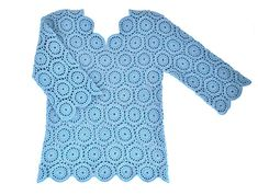 Friends today I make available to you this amazing blue motif blouse pattern. A beautiful design to enjoy made by Elena Fedotova. This blouse is a modern piece that can be … Blouse Patterns, Quilt Patterns, Knitting Patterns, Sewing Patterns, Crochet Patterns, Crochet Yarn, Knitting Yarn, Crochet Hooks, Top Pattern