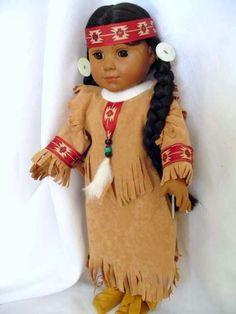 native american women's dress pattern | Native American girl Dress fits 18 inch doll Kaya