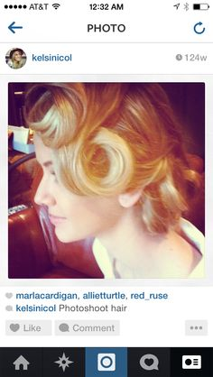 Editorial hair. Guess add inspired circa 50's Marylin Monroe. #editorial #50shair #updo #hairlove Love this photo! #Sterlingsalon Love this photo! #Sterlingsalon #summer #hair #blonde #love #fall #stylish #2014 #trend #beachy #waves #product #style #color #layers #texture #awesome #beforeandafter  #ilovehair #davines #beforeandter #kelsidowneystylist #ombre