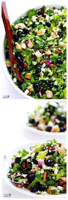 Blueberry Chicken Chopped Salad -- simple, sweet, and SO delicious! | gimmesomeoven.com