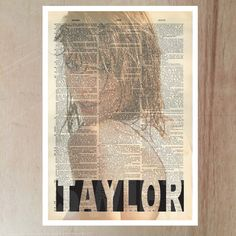 Taylor Swift art print poster print by LikeableType on Etsy