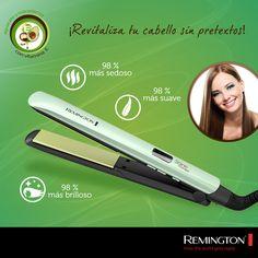 Logra darle vida a tu cabello con un liso perfecto.  #Remington.