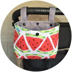 Ideas // Pram caddy / pram organiser / stroller bag by schwuppdiwupp