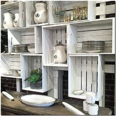 fruit crates kitchen storage idea