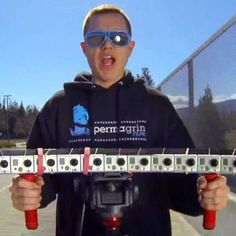 One filmmaker used 15 GoPro cameras to create a bullet-time effect for his videos.