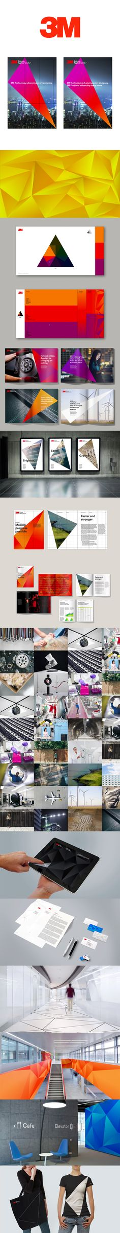 More corporate-designs are collected on: https://pinterest.com/rothenhaeusler/best-of-corporate-design/ · Client: 3M · Agency: Wolff Olins #branding #identity #corporatedesign