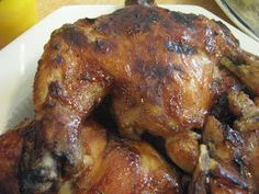 Not Leftovers Again!: Slow-Cooker BBQ Chicken Leg Quarters (using balls of aluminum foil in the bottom of the crock pot... interesting....)