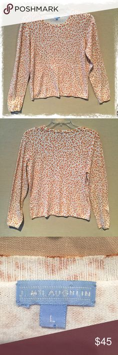 J McLaughlin Cheetah print sweater Beautiful J McLaughlin lightweight sweater. Good condition! J McLaughlin Sweaters Crew & Scoop Necks