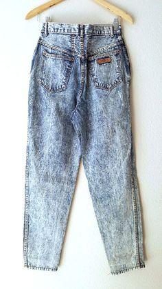 Acid Wash Jeans Size 27 x 29 High Waist Gitanto Vintage 80s Tapered Leg Grunge #Gitano