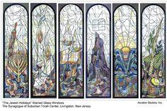 """Jewish Holidays"" Stained Glass Windows by Ascalon Studios, via Flickr."