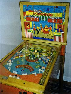 "1958 Carnival ""Bally "" Pinball Machine"