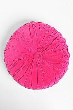 Round Pintuck Pillow $34.00